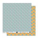 """Papier 2 - Collection """"SO'leil Levant"""""""" 30X30 - R/V"""