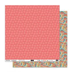 """Papier3- Collection """"SO'leil Levant"""""""" 30X30 - R/V"""