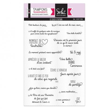 Tampons transparents - Les jolies citations