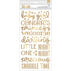 Pebbles Night Night thickers girl gold foil x151