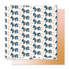 "Papier3- Collection ""SO'FOLK"" 30X30 - R/V"