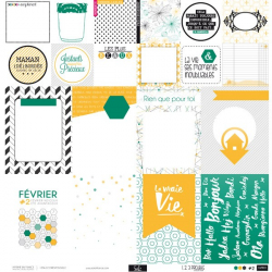 Papier - Carte Project Life - Papier 2 - Collection 1.2.3 Projets