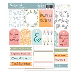 SO'SPECIAL - SOKAI - Planche Etiquettes à découper - format A5