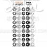 Planche d' oeillets imprimés noir
