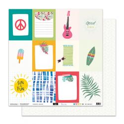 """Papier 5 - Collection """"VOILA L'ETE"""" 30X30 - R/V"""