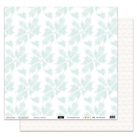 """Papier2 - Collection """"EN ATTENDANT L'HIVER"""" 30X30 - R/V"""