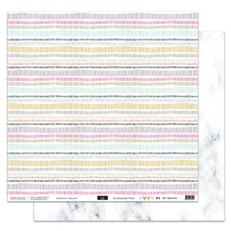 """Papier3 - Collection """"EN ATTENDANT L'HIVER"""" 30X30 - R/V"""
