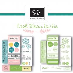 """Embellissements Papier - Collection """"C'est beau la vie"""""""
